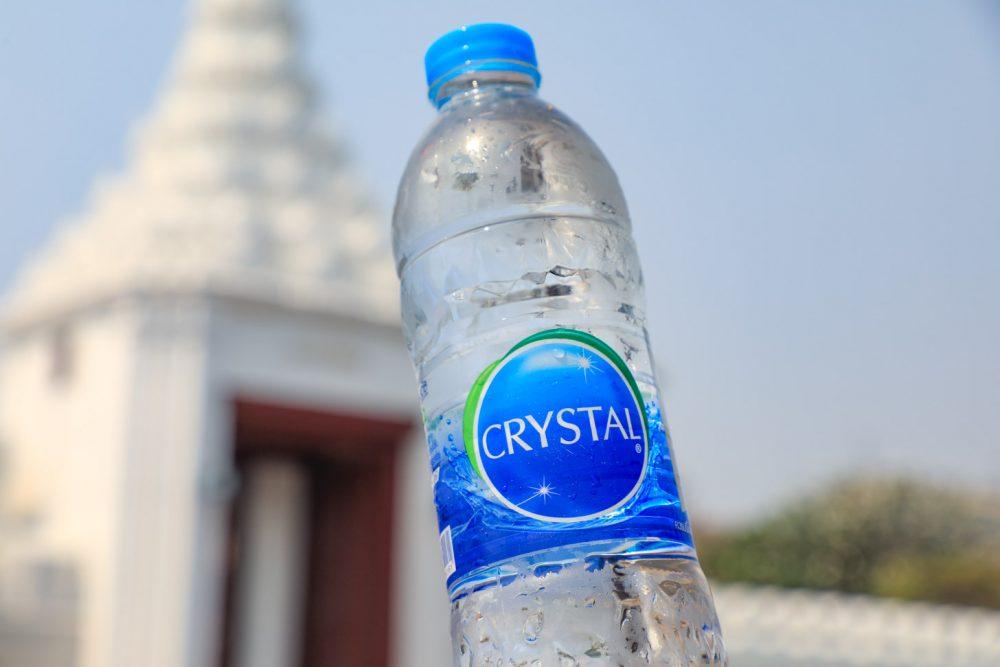 een flesje water