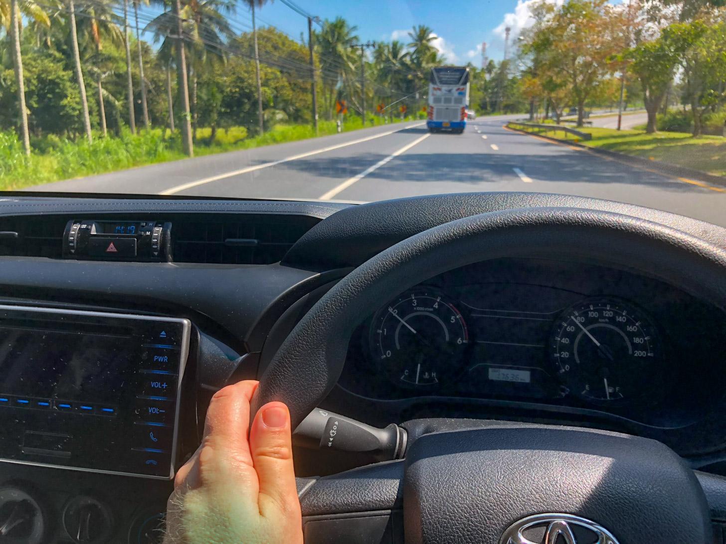 autorijden in Thailand